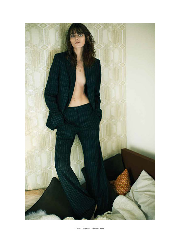 MelissaRussh4 Melissa Stasiuk Dons Menswear Inspired Style for Russh December/January