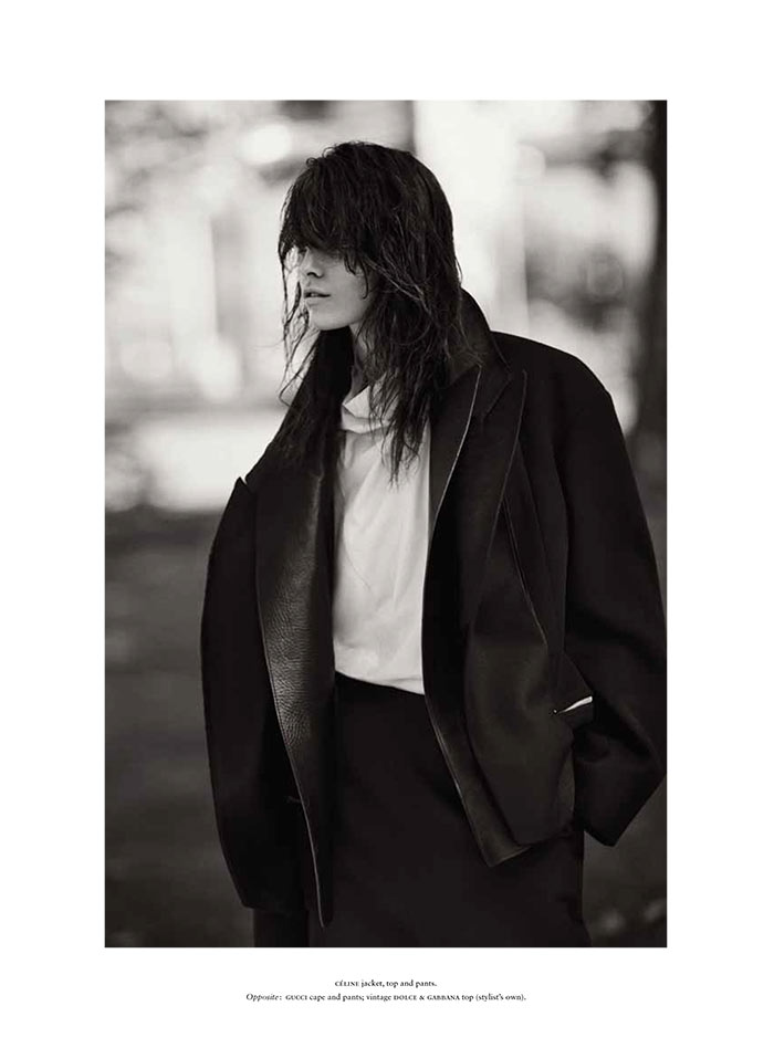 Melissa Stasiuk Dons Menswear Inspired Style for Russh December/January