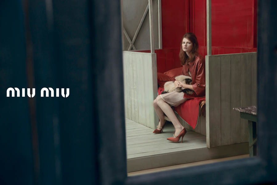 MiuMiuSpring11 Doutzen Kroes, Adriana Lima, Bette Franke, Malgosia Bela and Others Front the Miu Miu Spring 2013 Campaign by Inez & Vinoodh