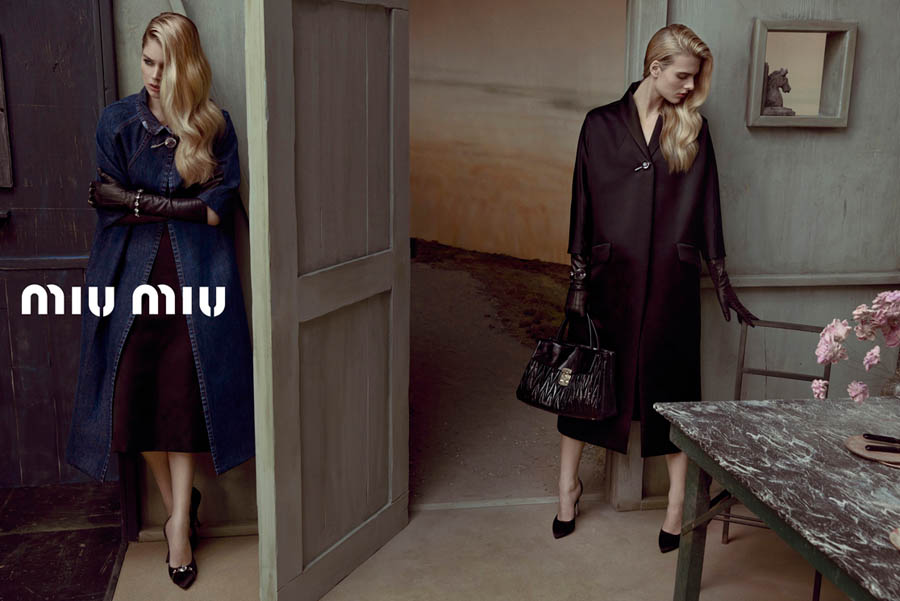 MiuMiuSpring12 Doutzen Kroes, Adriana Lima, Bette Franke, Malgosia Bela and Others Front the Miu Miu Spring 2013 Campaign by Inez & Vinoodh