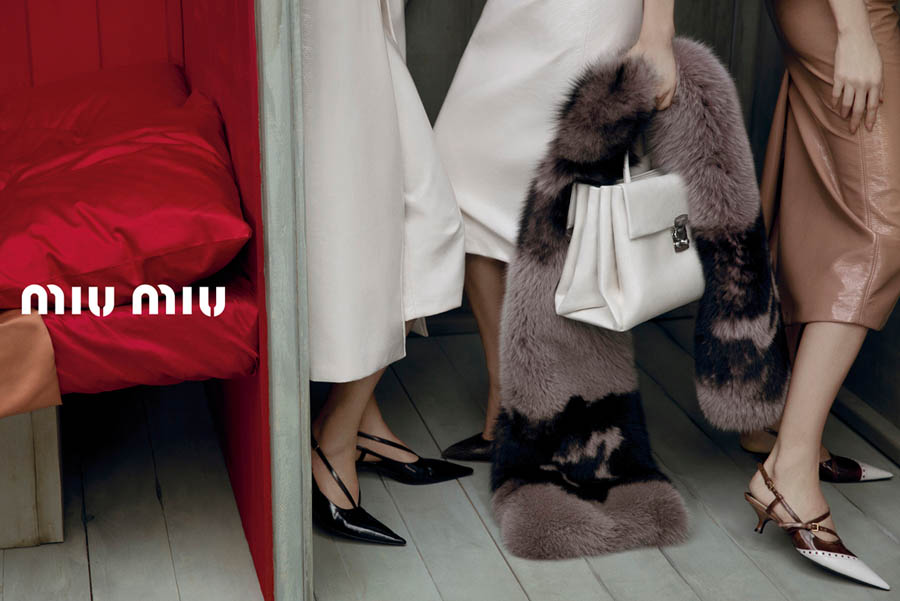 MiuMiuSpring17 Doutzen Kroes, Adriana Lima, Bette Franke, Malgosia Bela and Others Front the Miu Miu Spring 2013 Campaign by Inez & Vinoodh