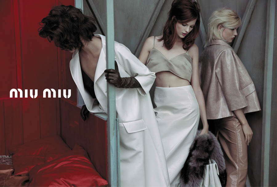MiuMiuSpring2 Doutzen Kroes, Adriana Lima, Bette Franke, Malgosia Bela and Others Front the Miu Miu Spring 2013 Campaign by Inez & Vinoodh