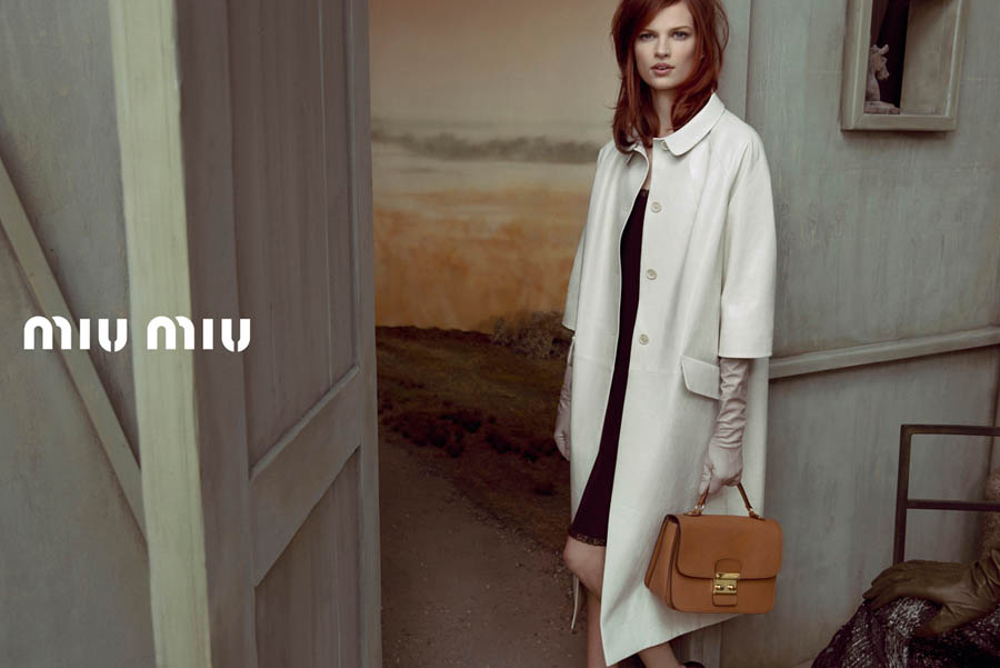 MiuMiuSpring4 Doutzen Kroes, Adriana Lima, Bette Franke, Malgosia Bela and Others Front the Miu Miu Spring 2013 Campaign by Inez & Vinoodh