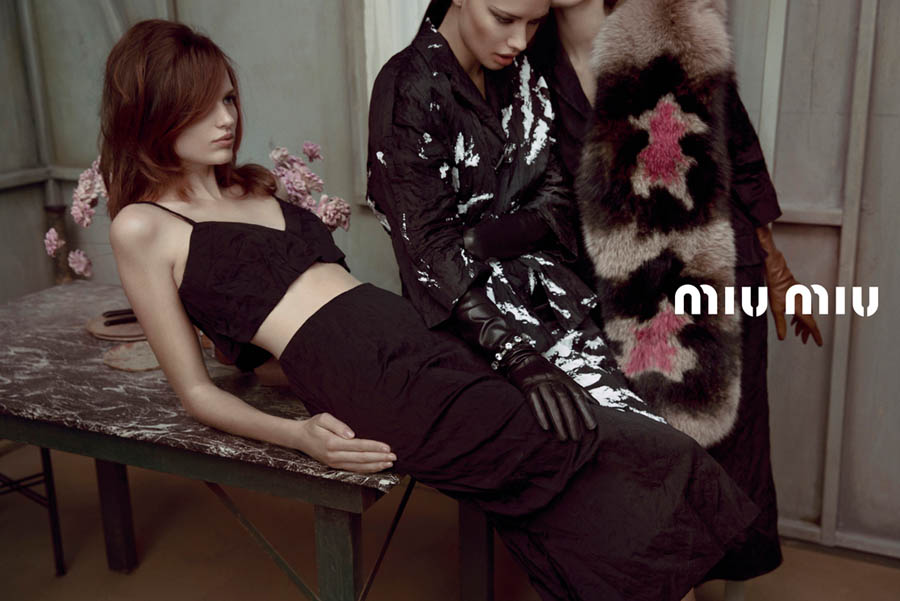 MiuMiuSpring8 Doutzen Kroes, Adriana Lima, Bette Franke, Malgosia Bela and Others Front the Miu Miu Spring 2013 Campaign by Inez & Vinoodh