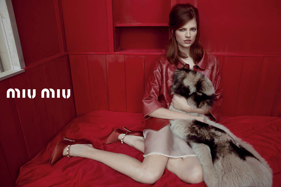 MiuMiuSpring9 Doutzen Kroes, Adriana Lima, Bette Franke, Malgosia Bela and Others Front the Miu Miu Spring 2013 Campaign by Inez & Vinoodh