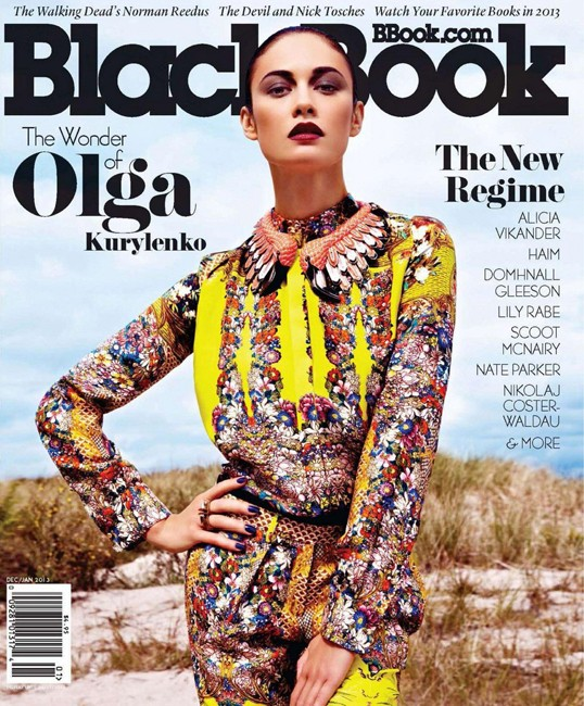 OlgaBlackbook7 Olga Kurylenko Shines in BlackBooks December/January Cover Shoot