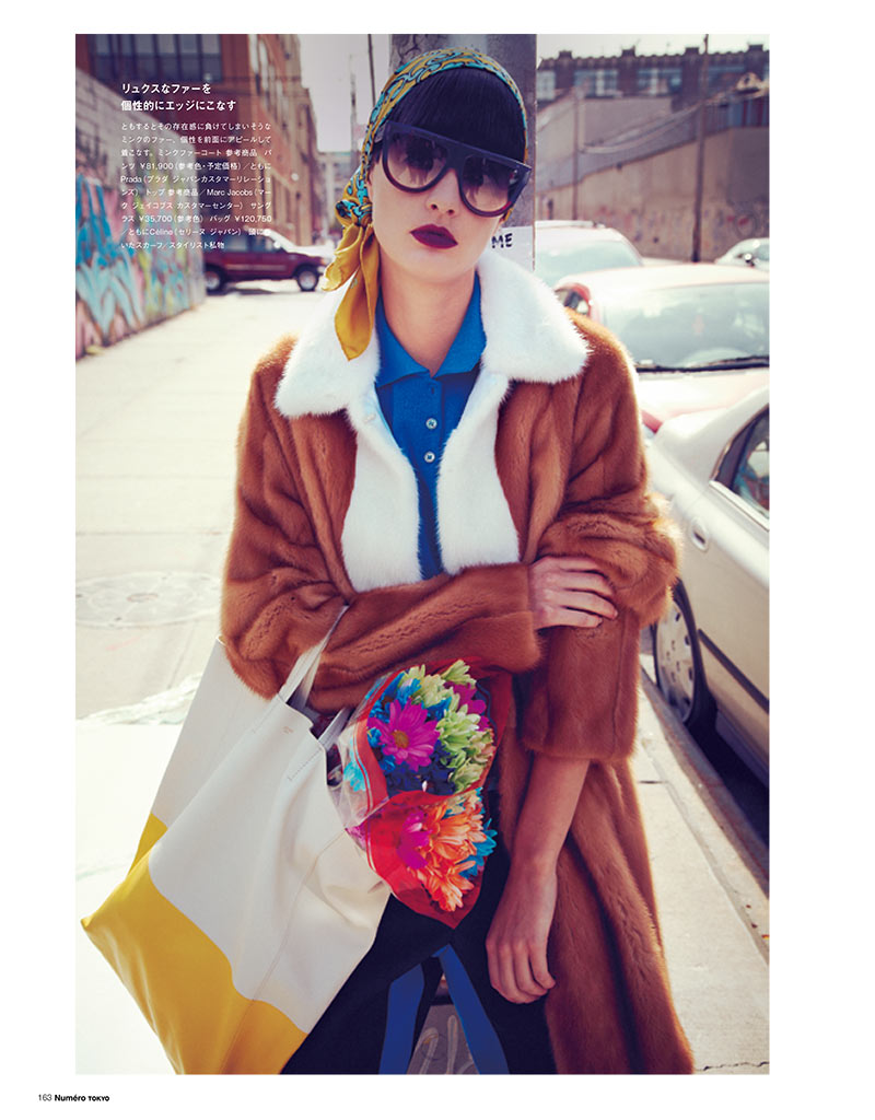 PatriciaNumero1 Patricia van der Vliet Dons Eclectic Style for Numéro Tokyo January/February 2013 by Sofia & Mauro