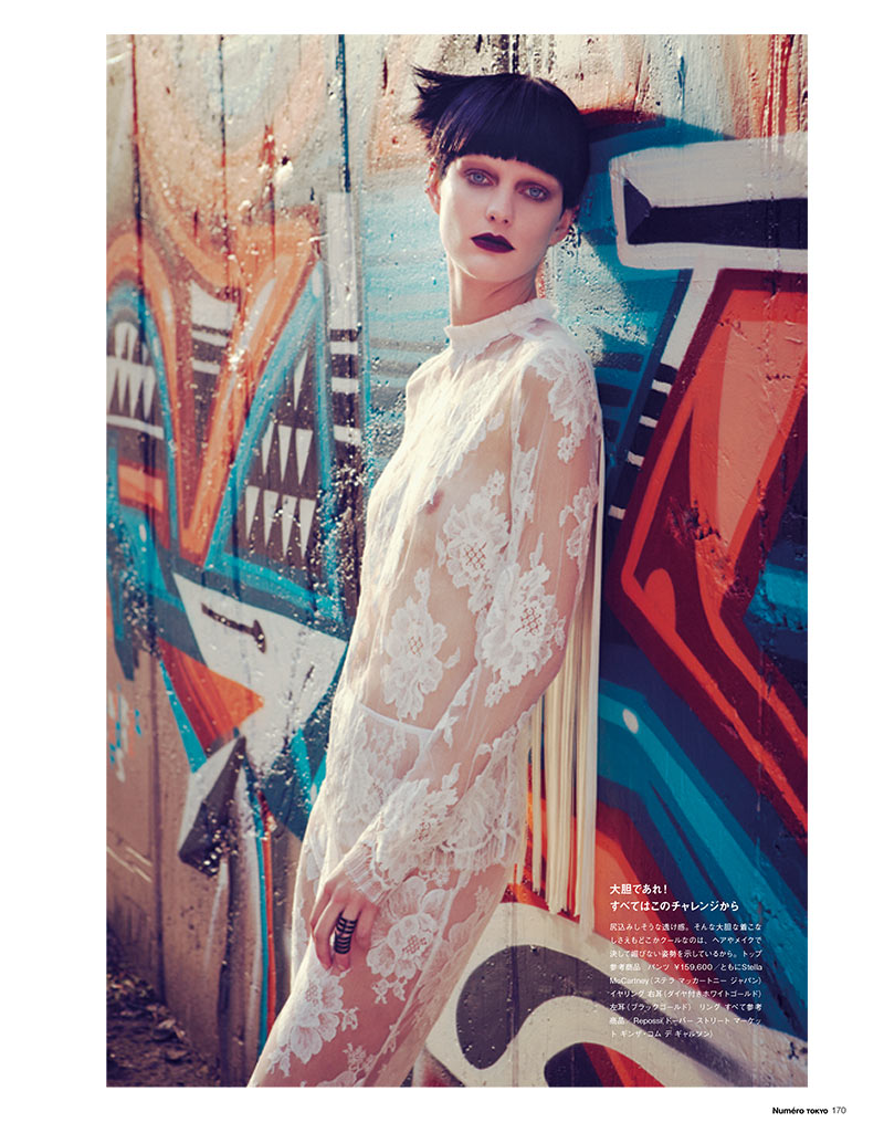 PatriciaNumero10 Patricia van der Vliet Dons Eclectic Style for Numéro Tokyo January/February 2013 by Sofia & Mauro