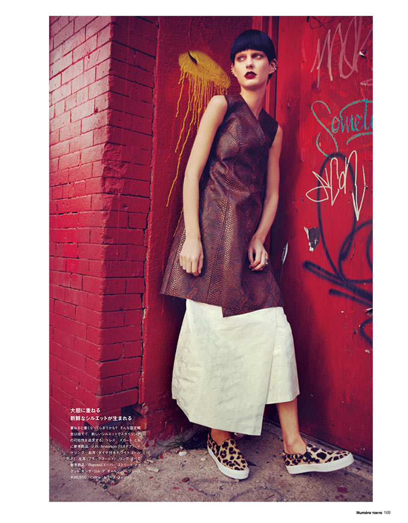PatriciaNumero8 Patricia van der Vliet Dons Eclectic Style for Numéro Tokyo January/February 2013 by Sofia & Mauro