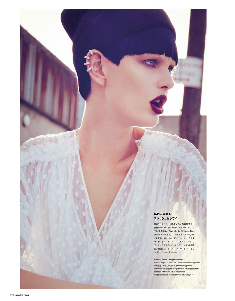 PatriciaNumero9 Patricia van der Vliet Dons Eclectic Style for Numéro Tokyo January/February 2013 by Sofia & Mauro