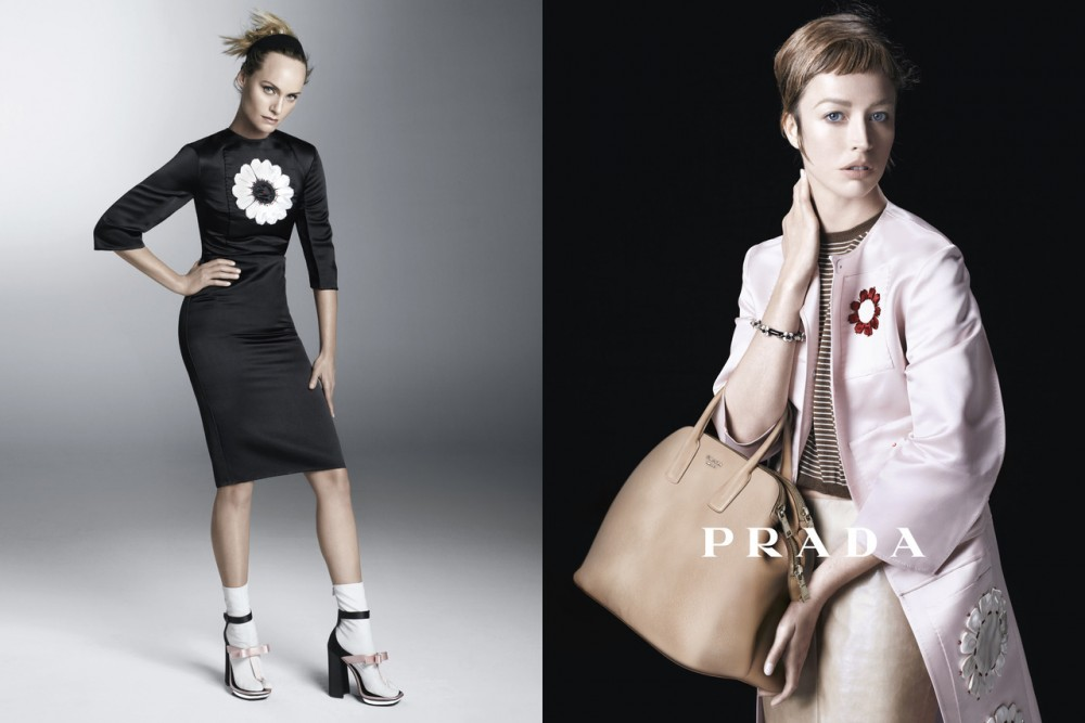 PradaSpring10 1000x667 Sasha Pivovarova, Raquel Zimmermann, Eva Herzigova, Amber Valletta and Others Star in Pradas Spring 2013 Campaign by Steven Meisel