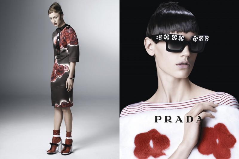 Sasha Pivovarova, Raquel Zimmermann, Eva Herzigova, Amber Valletta and Others Star in Prada's Spring 2013 Campaign by Steven Meisel