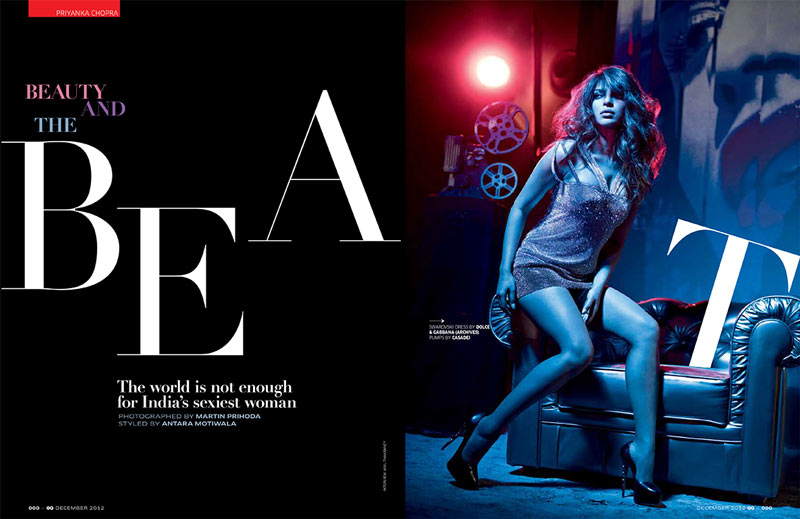 PriyankaGQ1 Priyanka Chopra Dons Glam Rock Style for GQ Indias December Issue