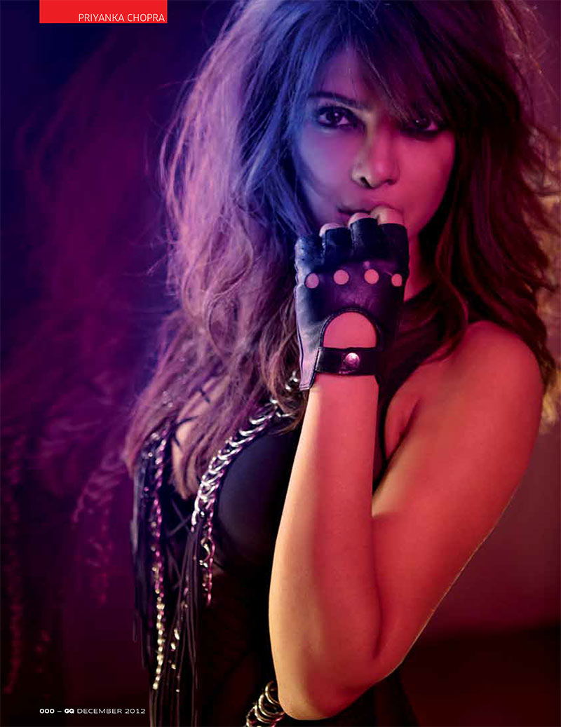 PriyankaGQ4 Priyanka Chopra Dons Glam Rock Style for GQ Indias December Issue