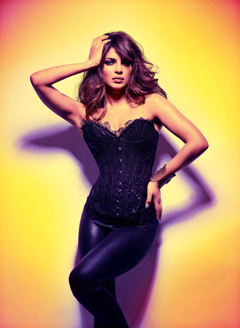 Priyanka Chopra Dons Glam Rock Style for GQ India's December Issue