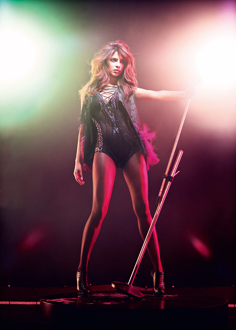PriyankaGQ6 Priyanka Chopra Dons Glam Rock Style for GQ Indias December Issue