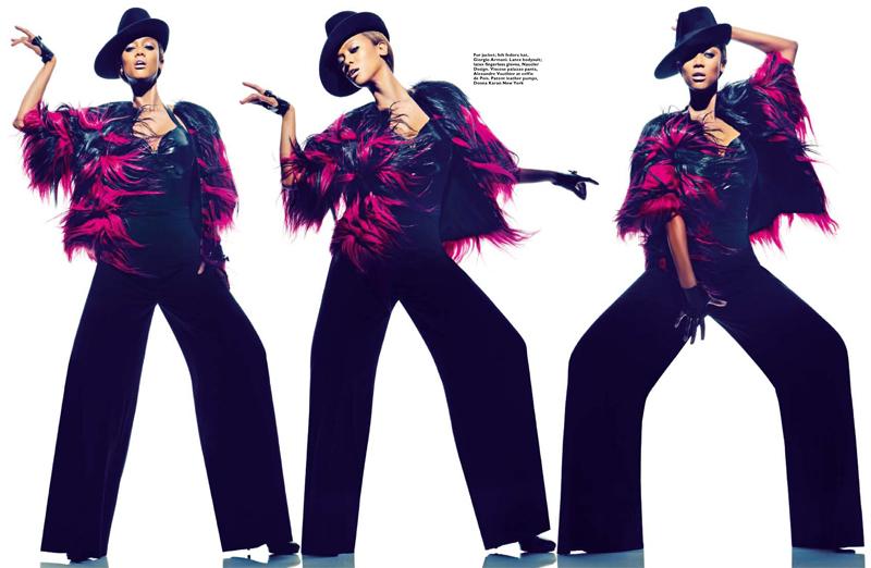 SB0113 Fashion Tyra Banks 2 FGR Tyra Banks Gets Fierce for Harpers Bazaar Singapore January 2013 Cover Shoot