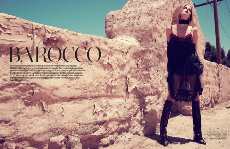 Shannan Click Dons Romantic Style for Vogue Turkey December 2012 by Sofia & Mauro