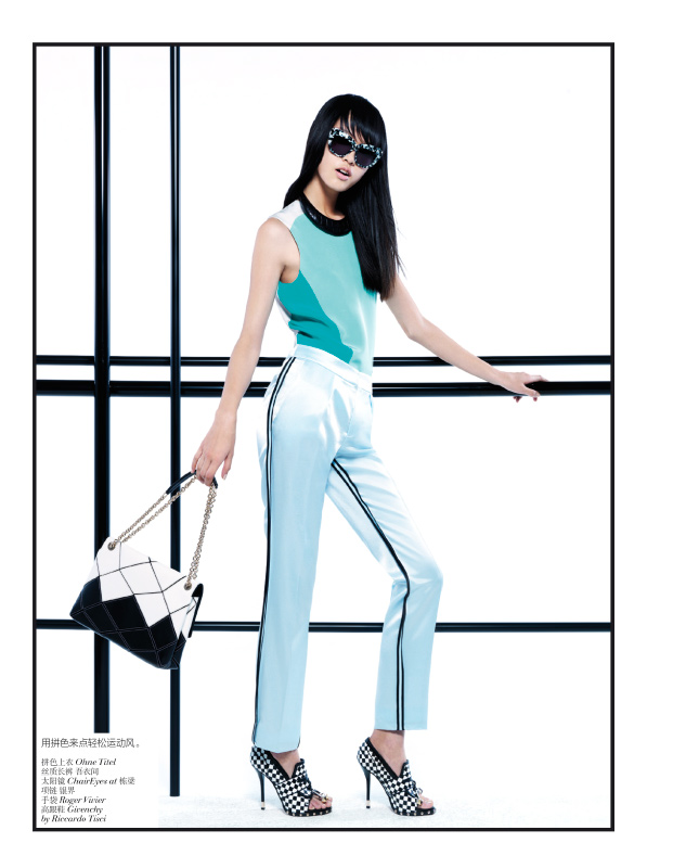 StocktonJohnson VogueChina Jan2013 TianYi ModernPastel 4 Tian Yi Looks Resort Ready in Vogue Chinas January 2013 Issue by Stockton Johnson