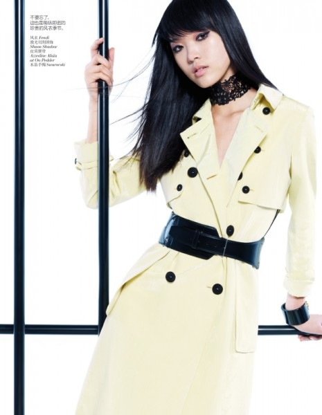 Tian Yi Looks Resort Ready in Vogue China's January 2013 Issue by Stockton Johnson