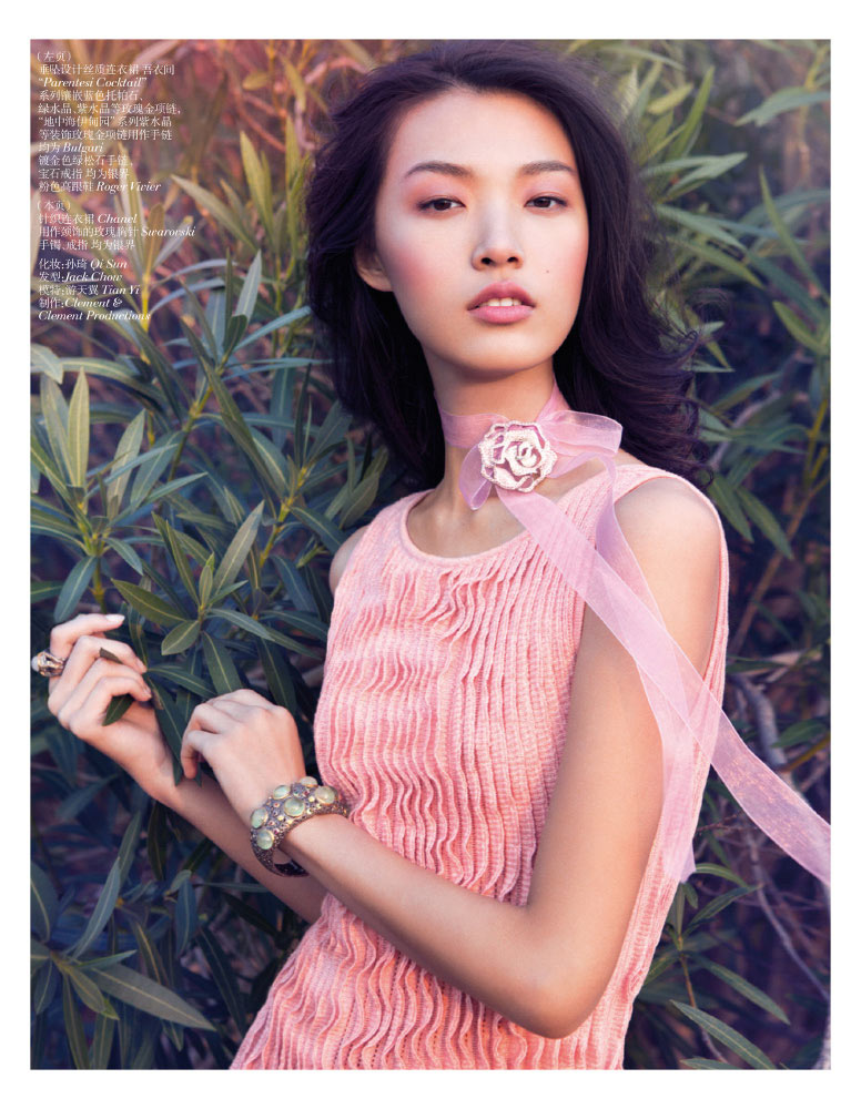 StocktonJohnson VogueChina Jan2013 TianYi RomanticPastel 2 Tian Yi is a Pastel Dream in Vogue China January 2013 by Stockton Johnson