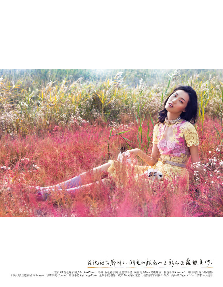 StocktonJohnson VogueChina Jan2013 TianYi RomanticPastel 4 Tian Yi is a Pastel Dream in Vogue China January 2013 by Stockton Johnson