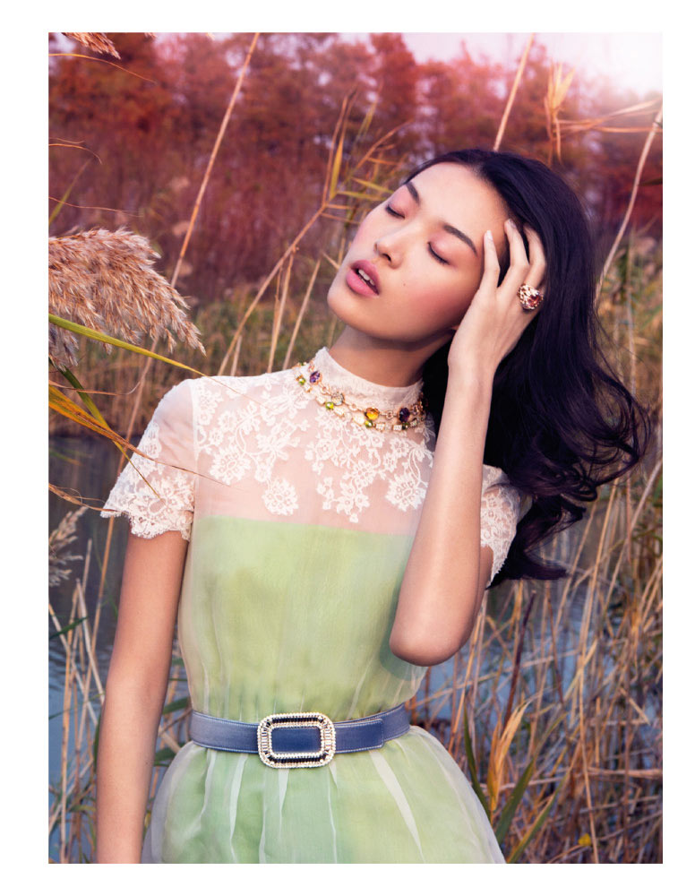 StocktonJohnson VogueChina Jan2013 TianYi RomanticPastel 6 Tian Yi is a Pastel Dream in Vogue China January 2013 by Stockton Johnson