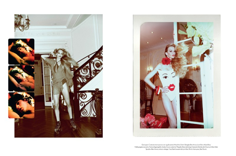 VanessaMeisel5 Vanessa Axente Emulates Jerry Hall for Vogue Italias December Issue by Steven Meisel
