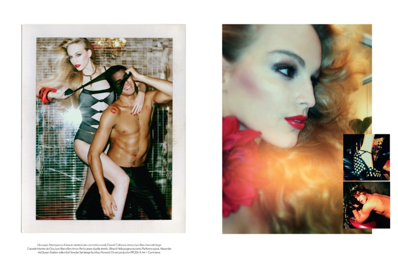 VanessaMeisel8 Vanessa Axente Emulates Jerry Hall for Vogue Italias December Issue by Steven Meisel