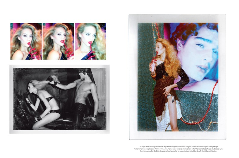 VanessaMeisel9 Vanessa Axente Emulates Jerry Hall for Vogue Italias December Issue by Steven Meisel