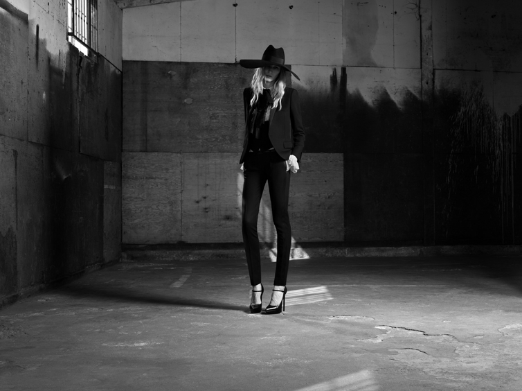 YSL6 Saint Laurent Taps Julia Nobis for its Spring 2013 Campaign by Hedi Slimane