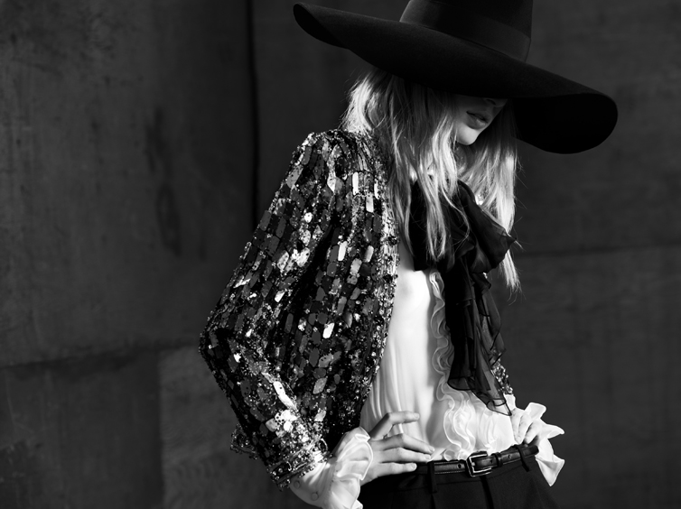 YSL7 Saint Laurent Taps Julia Nobis for its Spring 2013 Campaign by Hedi Slimane