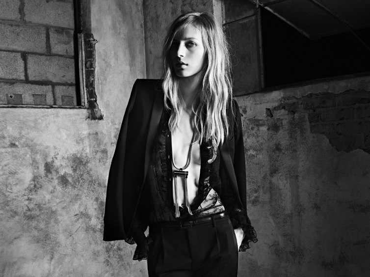 YSL8 Saint Laurent Taps Julia Nobis for its Spring 2013 Campaign by Hedi Slimane