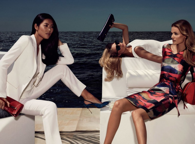 black women campaign 01 overview 08 800x590 Edita Vilkeviciute, Liu Wen and Toni Garrn Go to The Hamptons for Hugo Boss Blacks Spring 2013 Campaign by Mikael Jansson