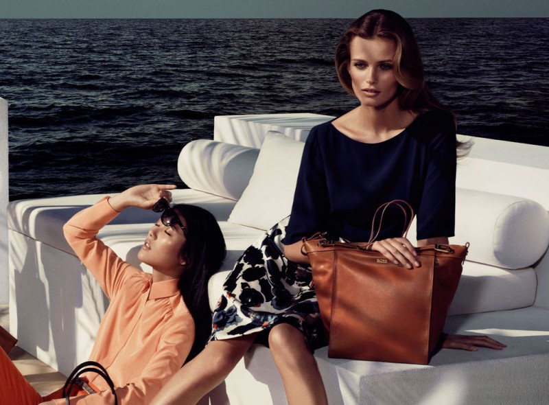 black women campaign 03 overview 07 800x590 Edita Vilkeviciute, Liu Wen and Toni Garrn Go to The Hamptons for Hugo Boss Blacks Spring 2013 Campaign by Mikael Jansson