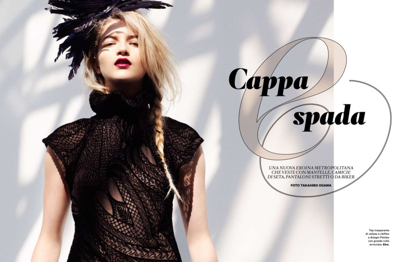 cappa1 Lydia Carron Dons Winter Capes for Amica December 2012 by Takahiro Ogawa