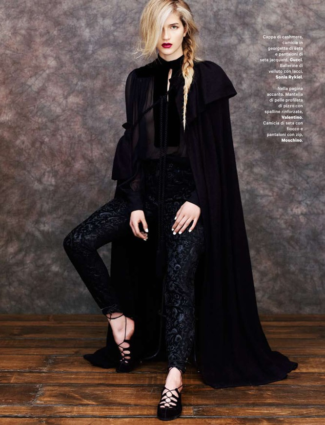 cappa3 Lydia Carron Dons Winter Capes for Amica December 2012 by Takahiro Ogawa