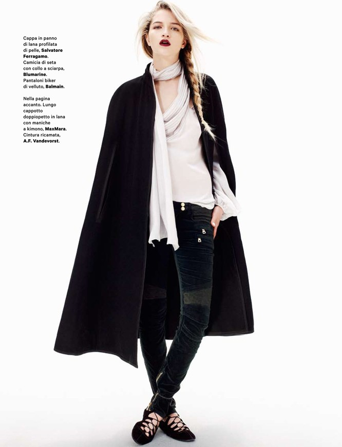 cappa4 Lydia Carron Dons Winter Capes for Amica December 2012 by Takahiro Ogawa