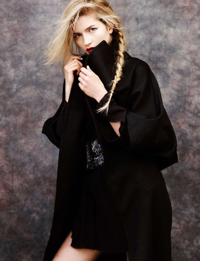 Lydia Carron Dons Winter Capes for Amica December 2012 by Takahiro Ogawa