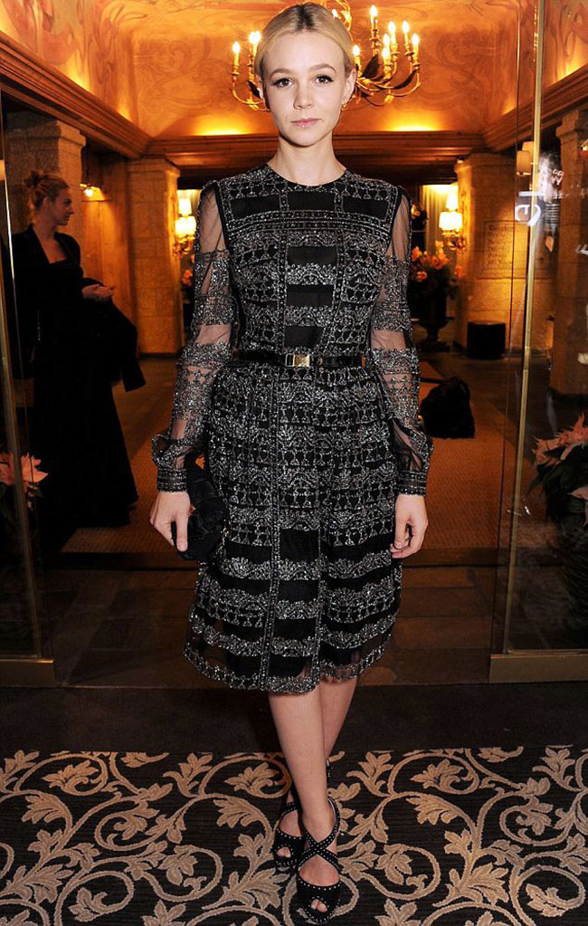 carey1 Carey Mulligan in Valentino at the ASMALLWORLD Gala Dinner