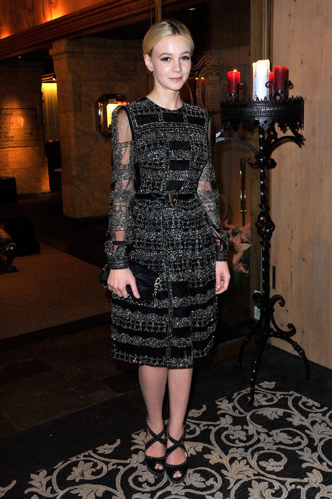 carey3 Carey Mulligan in Valentino at the ASMALLWORLD Gala Dinner