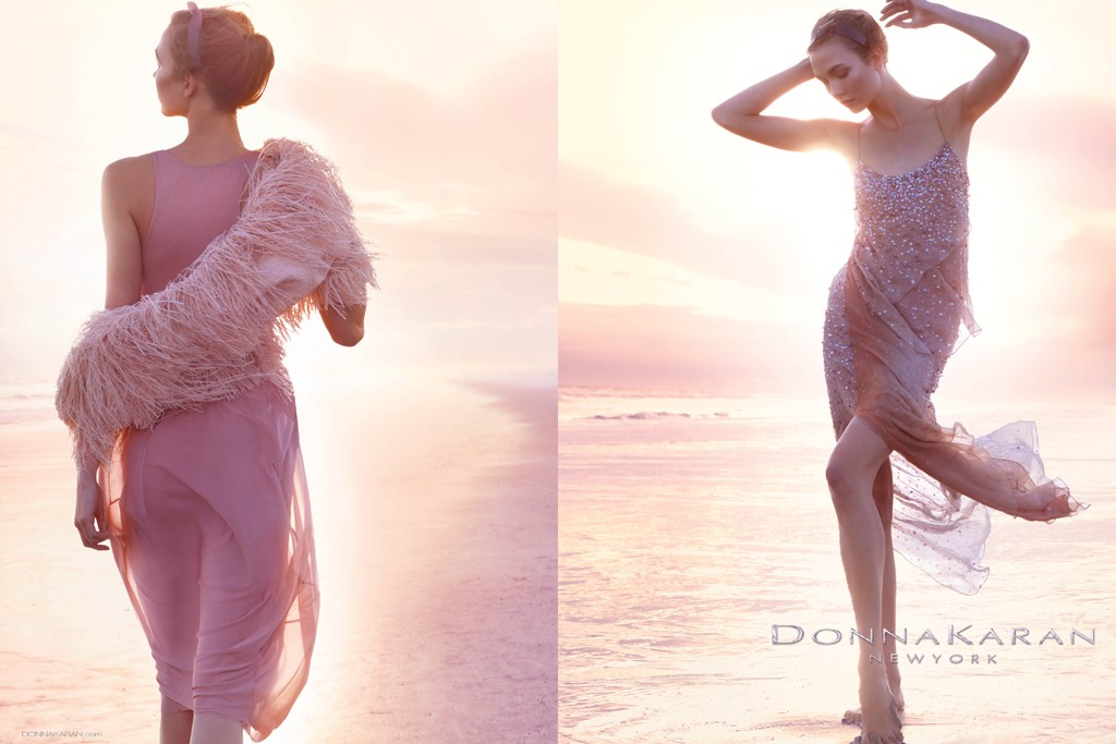 donna karlie Karlie Kloss is Ethereal in Donna Karans Spring 2013 Campaign by Patrick Demarchelier