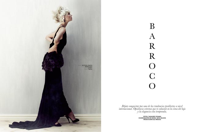 egle1 Egle Tvirbutaite is a Baroque Beauty for Elle Mexico December 2012 by Takahiro Ogawa