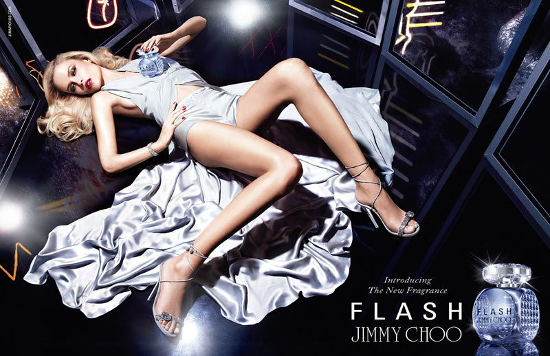 "Natasha Poly Gets Glam for the ""Flash"" by Jimmy Choo Fragrance Campaign"