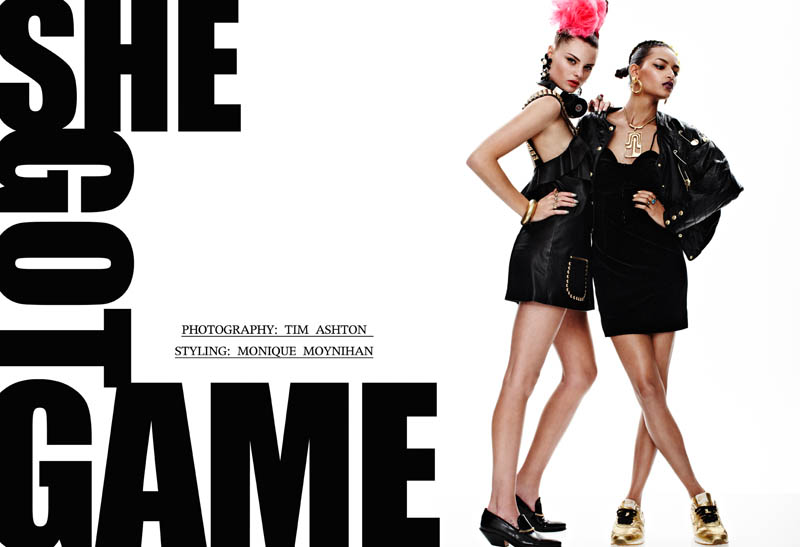 "Melissa Bell and Katherine Webster by Tim Ashton in ""She Got Game"" for Fashion Gone Rogue"
