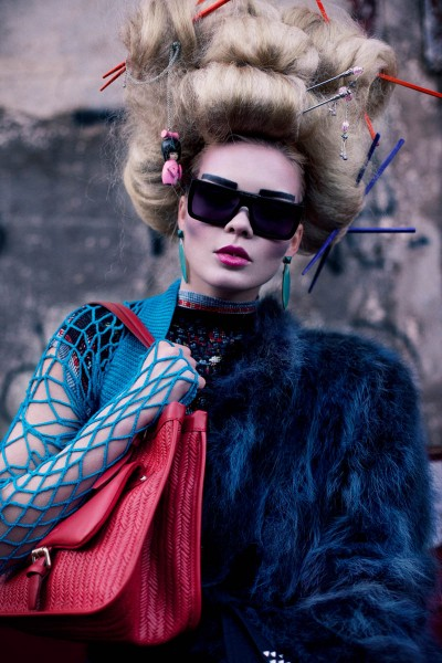 "Lovisa Axelsson Hager by Ninja Hanna in ""Punk Geisha"" for Fashion Gone Rogue"