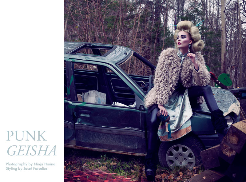 geisha Lovisa Axelsson Hager by Ninja Hanna in Punk Geisha for Fashion Gone Rogue