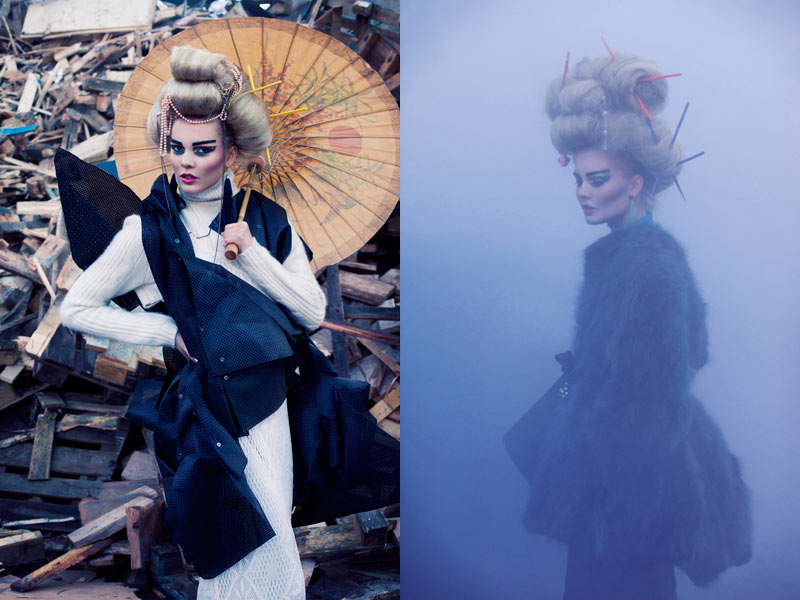 geisha3 Lovisa Axelsson Hager by Ninja Hanna in Punk Geisha for Fashion Gone Rogue