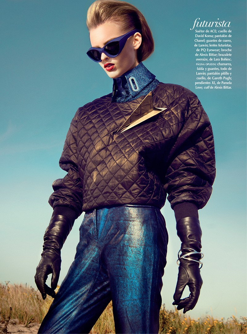 georgina2 Georgina Stojilijkovic Gets Futuristic for Vogue Latin America December 2012 by Kevin Sinclair