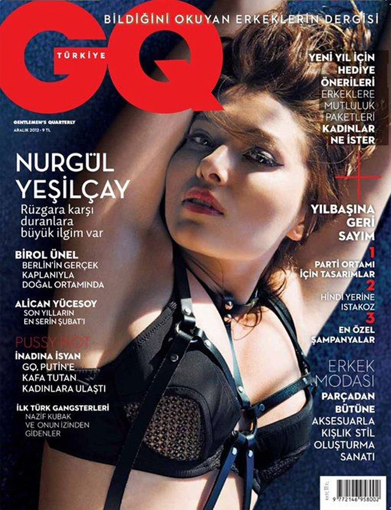 Nurgul Yesilcay Dons Bondage Style for GQ Turkey's December Cover Story by Gianluca Fontana